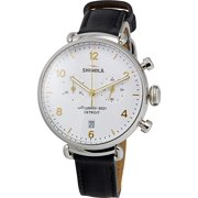 Shinola The Canfield White Dial Leather Strap Ladies Watch 20001930