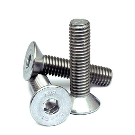 M3-0.5 / 3mm - Qty 10 - FLAT HEAD SOCKET Cap Screw Countersunk FHCS DIN 7991 - A2-70/304 / 18-8 Stainless Steel - MonsterBolts (M3 x 20mm)