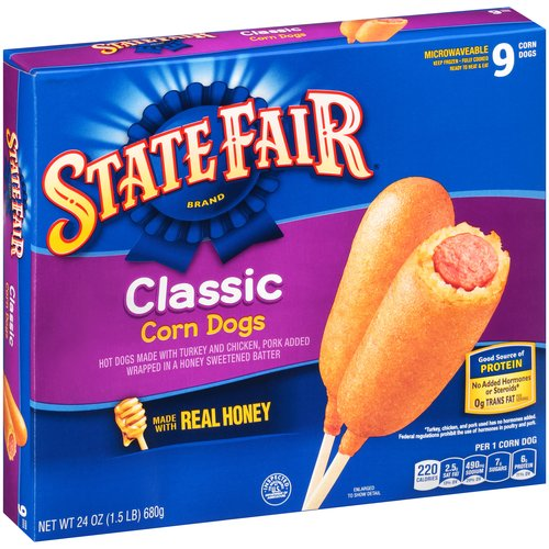 State Fair Brand Classic Corn Dogs, 9 count, 24 oz