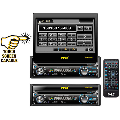 """Pyle Audio 7"""" Single DIN In-Dash Motorized Touchscreen TFT/LCD Monitor and Receiver"""