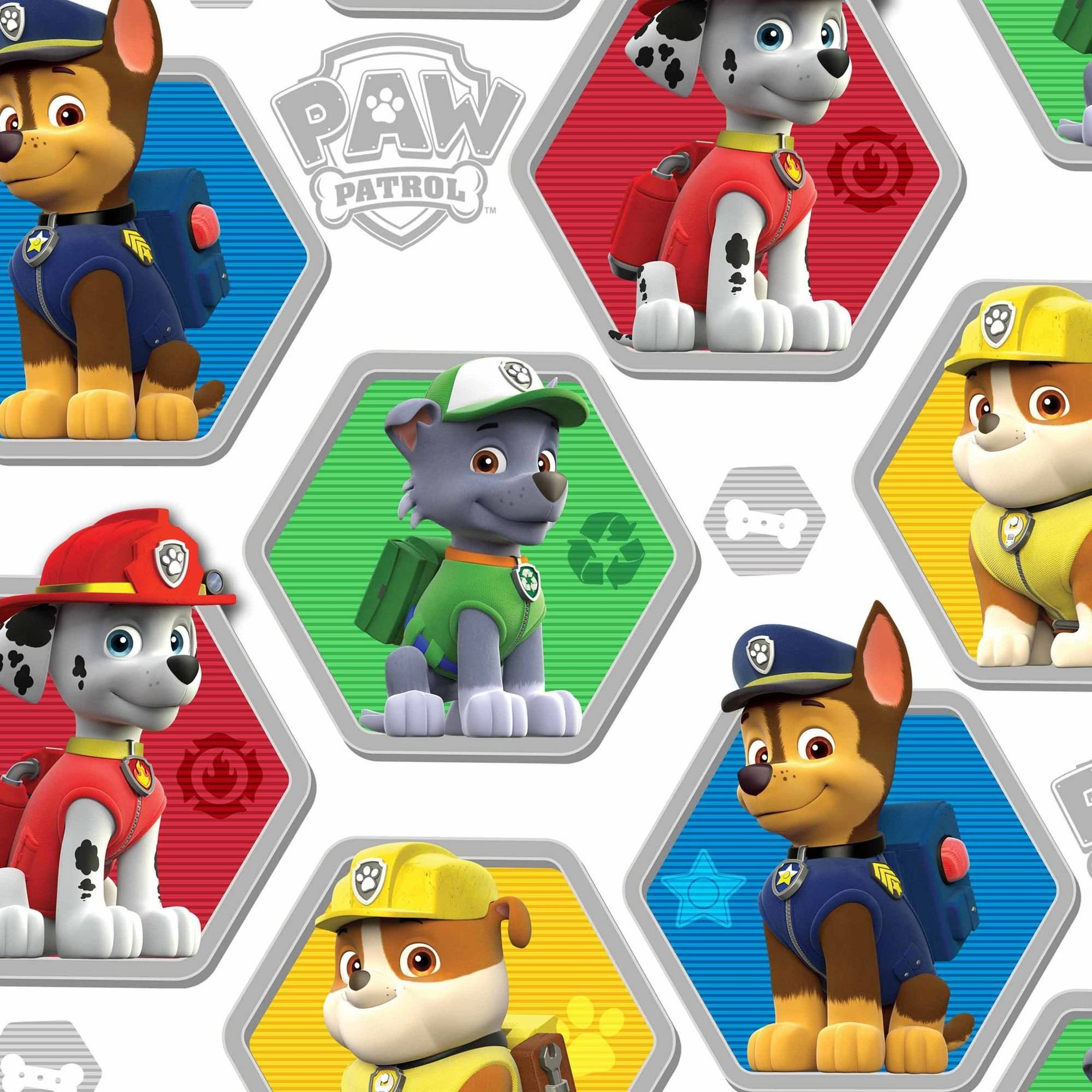 "David Textiles Paw Patrol To The Rescue 44"" Craft Cotton Fabric By The Yard"
