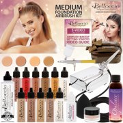 Belloccio Makeup and Tanning Airbrush System with MEDIUM Foundation and Blush Set