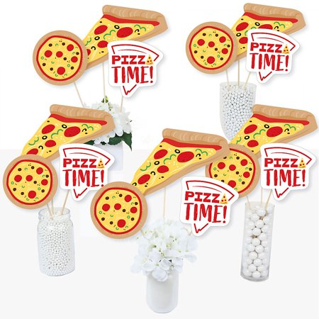 Pizza Party Time - Baby Shower or Birthday Party Centerpiece Sticks - Table Toppers - Set of 15 - Toppers Pizza Coupon Code