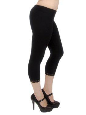 80d6dda165bd3 Black Vivian s Fashions Womens Plus Leggings - Walmart.com