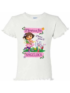 Personalized Dora The Explorer Flowers For You Girls T-shirt