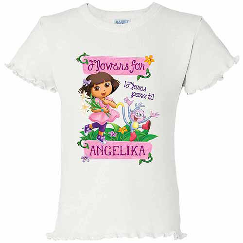 Personalized Dora The Explorer Flowers T