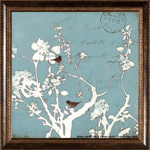 PTM Images Elegant Vintage Birds Framed Art
