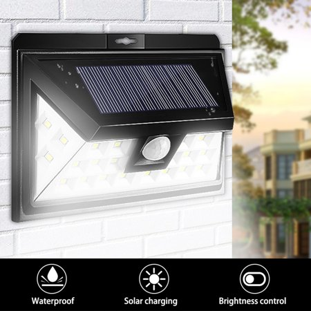 KingSo 2x Solar Light 24 LED Outdoor Motion Sensor Wide Angle Design Home Garden Waterproof IP65
