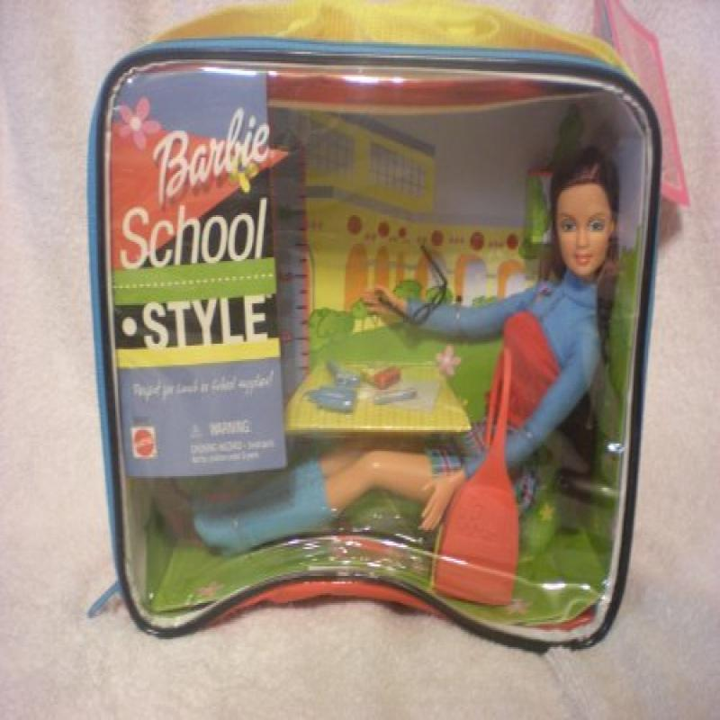 Mattel School Style Barbie, Perfect for Lunch or School Supplies