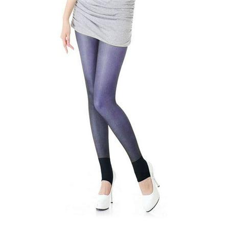 4e747959bc242 Allegra K - Woman Thin Sheer Elastic Waist Foot Step Tights Leggings  Pantyhose Navy Blue XS - Walmart.com