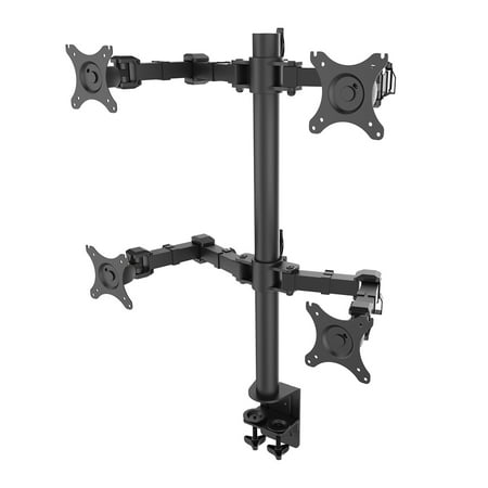 Quad Lcd Monitor Stand - FLEXIMOUNTS D1Q Full Motion Quad Arm Desk Mounts Stand Fits 10-27