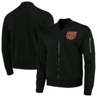 Cleveland Cavaliers Sportiqe Maverick Fleece Bomber Full-Zip Jacket - Black
