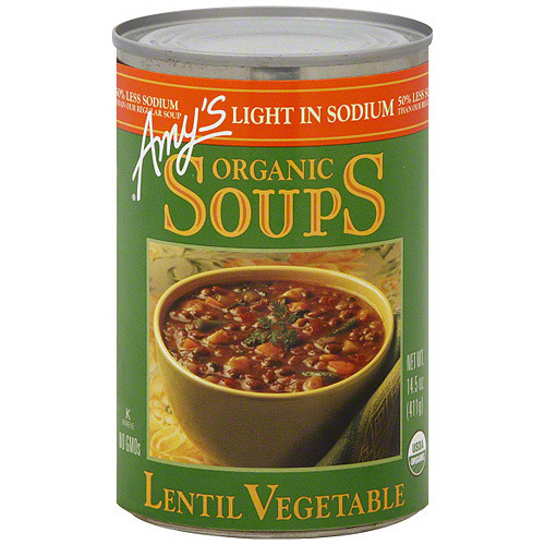 Amy's Kitchen Lentil Vegetable Soup, 14.5 oz (Pack of 12)