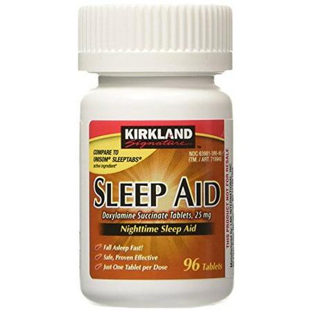Sleep Aid Doxylamine Succinate 25 Mg, 96-Count (1 Bottle) Nighttime Sleep (Best Medicine For Not Sleeping)