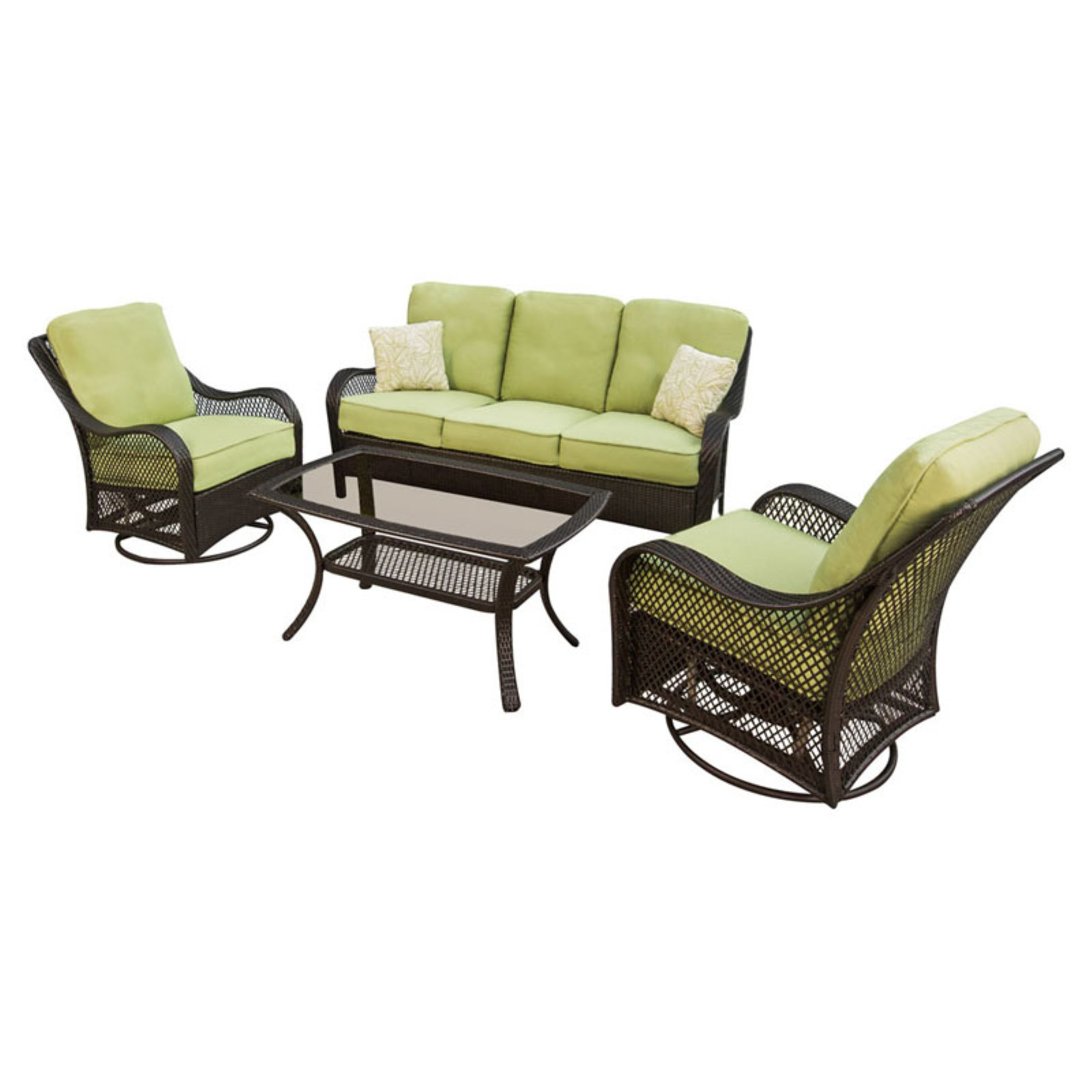 Hanover Orleans 4-Piece Outdoor Lounging Set