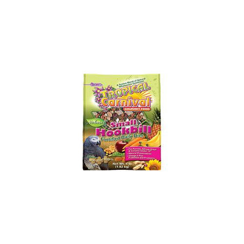 F.M.Brown's Tropical Carnival Natural Small Hookbill Food, 3.5-Pound Package Multi-Colored
