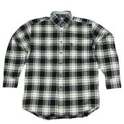 Wrangler Mens George Strait Long Sleeve Flannel Plaid Shirt MGS06XM (Medium)
