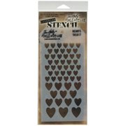 """Stampers Anonymous Tim Holtz Layered Stencil 4.125""""X8.5""""-Hearts"""