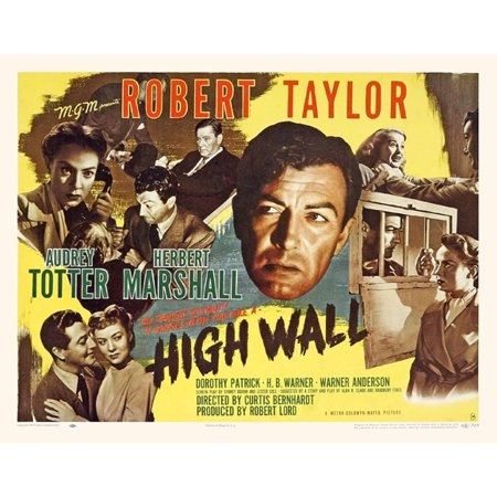 High Wall Poster Movie B  27X40