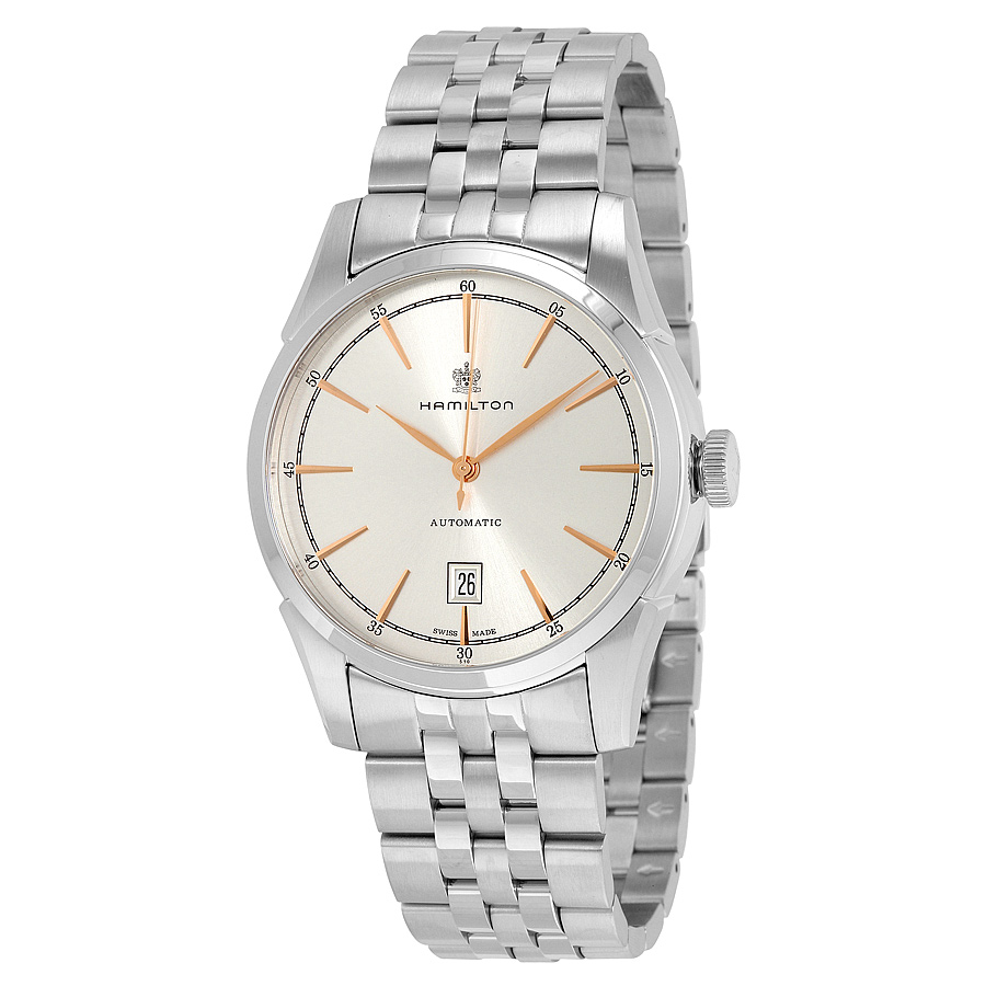 Hamilton Spirit Of Liberty Silver Dial Stainless Steel Mens Watch H42415051 by Hamilton