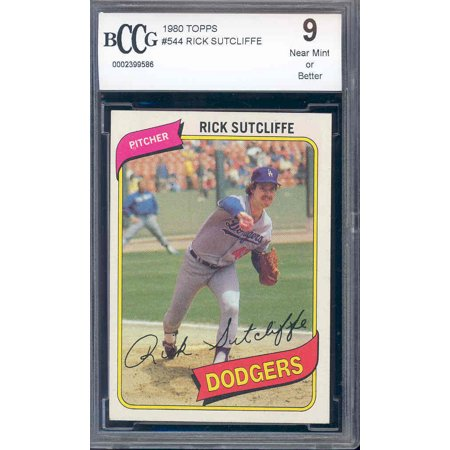 1980 topps #544 RICK STUCLIFFE rc rookie BGS BCCG (1980 Topps Card)