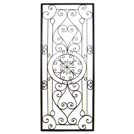 Bellissa 64 Inch Oversized Wrought Iron Wall Grille