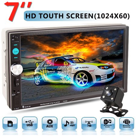 - 7'' HD Multimedia TFT Display TouchScreen bluetooth MP5 MP3 Player 2DIN Car Stereo Radio FM USB/ TF/ AUX With Rear View Camera Can charge for Mobilephone or Other USB Devices