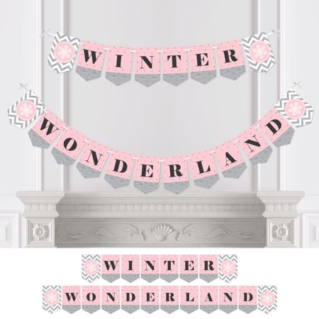 Pink Winter Wonderland Holiday Snowflake Party Or Baby Shower