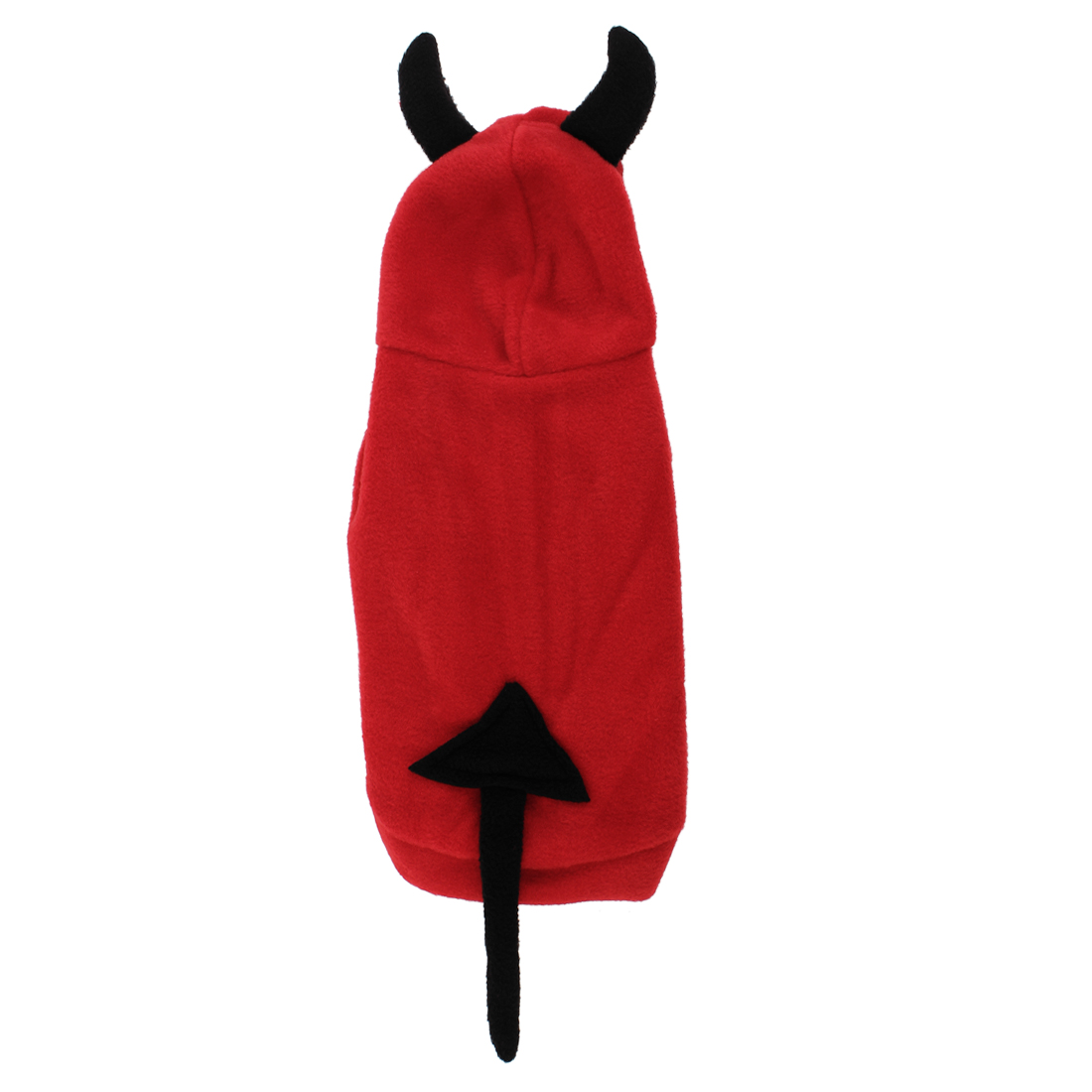 Unique Bargains Single Breasted Devil Shape Pet Dog Poodle Halloween Costume Coat Black Red L