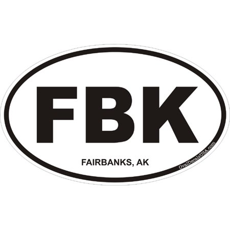 3.8 Inch Fairbanks, Alaska Decal Sticker (Fairbanks Replacement)