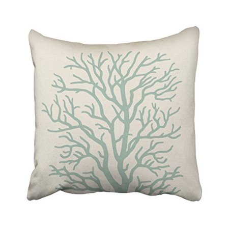 Winhome Square Throw Pillow Covers Vintage C Tree In Seafoam Green Artistic Pillowcases Polyester 18 X