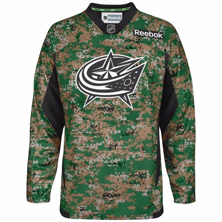 detailed look 2cc10 624f4 Columbus Blue Jackets NHL Reebok Camo Official USA Practice Jersey For Men