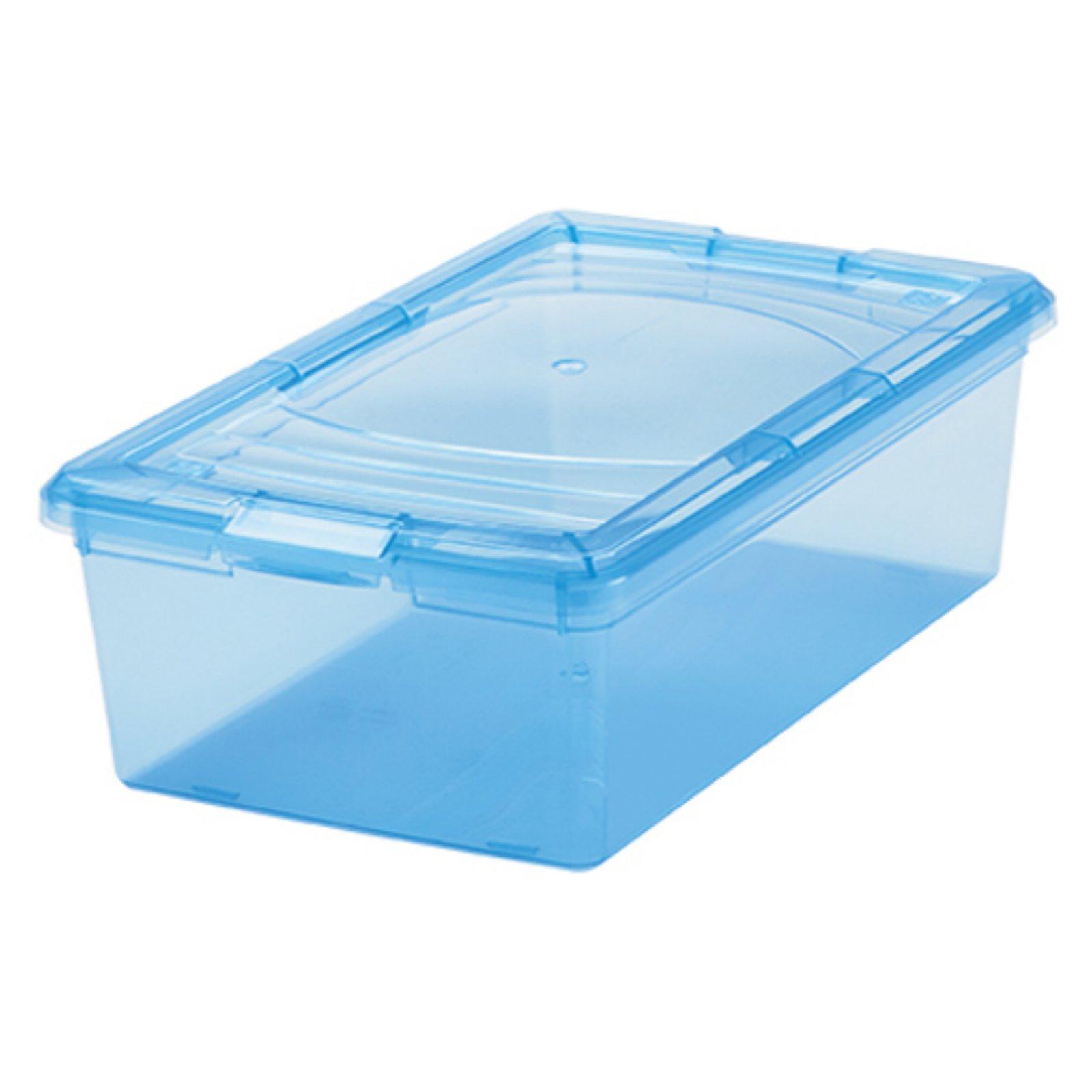 IRIS 34 Quart Deep Sweater Storage Box, 10 Pack, Soft Blue
