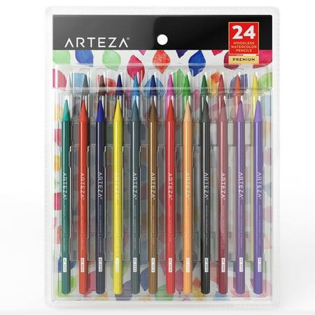 Arteza Woodless Watercolor Pencils (Set of 24) (Watercolor And Colored Pencil)