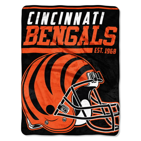 "NFL Cincinnati Bengals ""40-Yard Dash"" 46""x 60"" Micro Raschel Throw Cincinnati Reds Comfy Throw"
