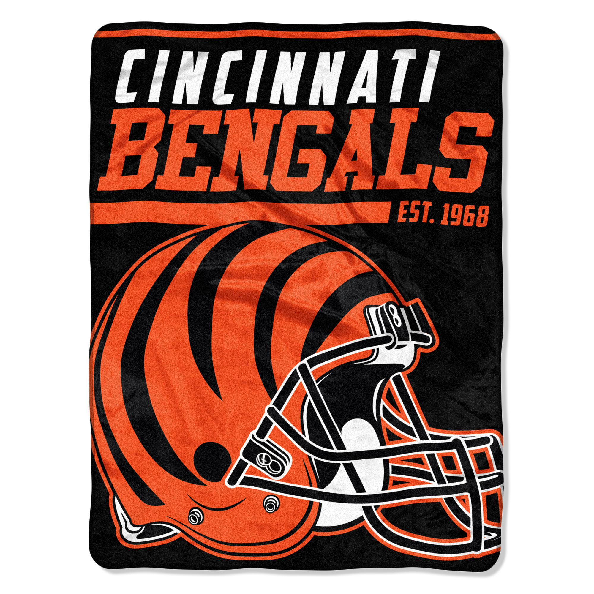 "NFL Cincinnati Bengals ""40-Yard Dash"" 46""x 60"" Micro Raschel Throw"