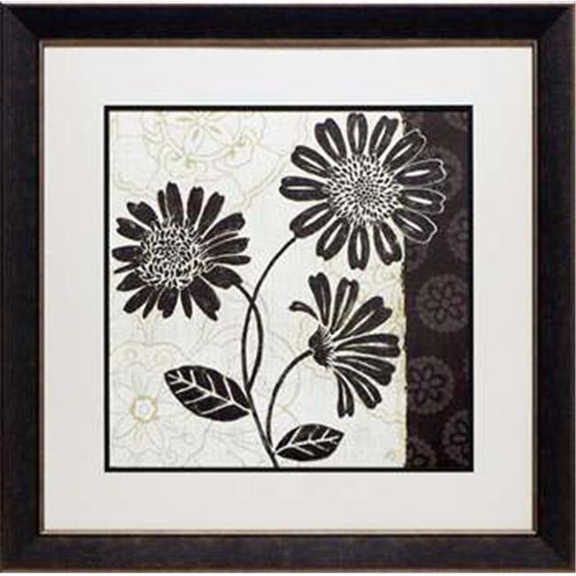 North American Art N1144 28 x 28 in. Influence II Framed Floral Art Print - image 1 de 1