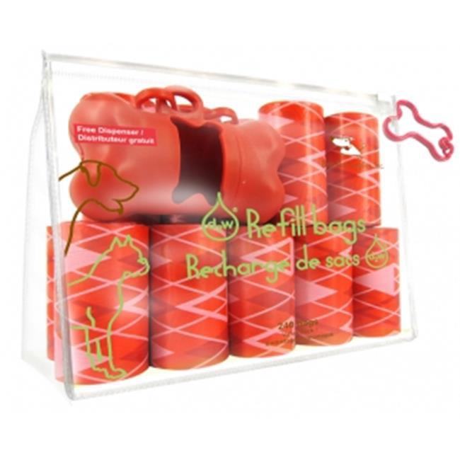 Best Pet Supplies AGR-2401 Argyle Red - 16Rolls-Bag