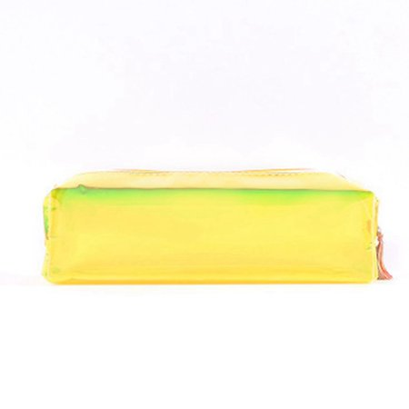 Fancyleo Back To School New Creative Laser Transparent Pencil Case Clear Zip Pencil Bag Student Pen Bag Small Cosmetic Bag With Zipper (Pencil Cases Small)