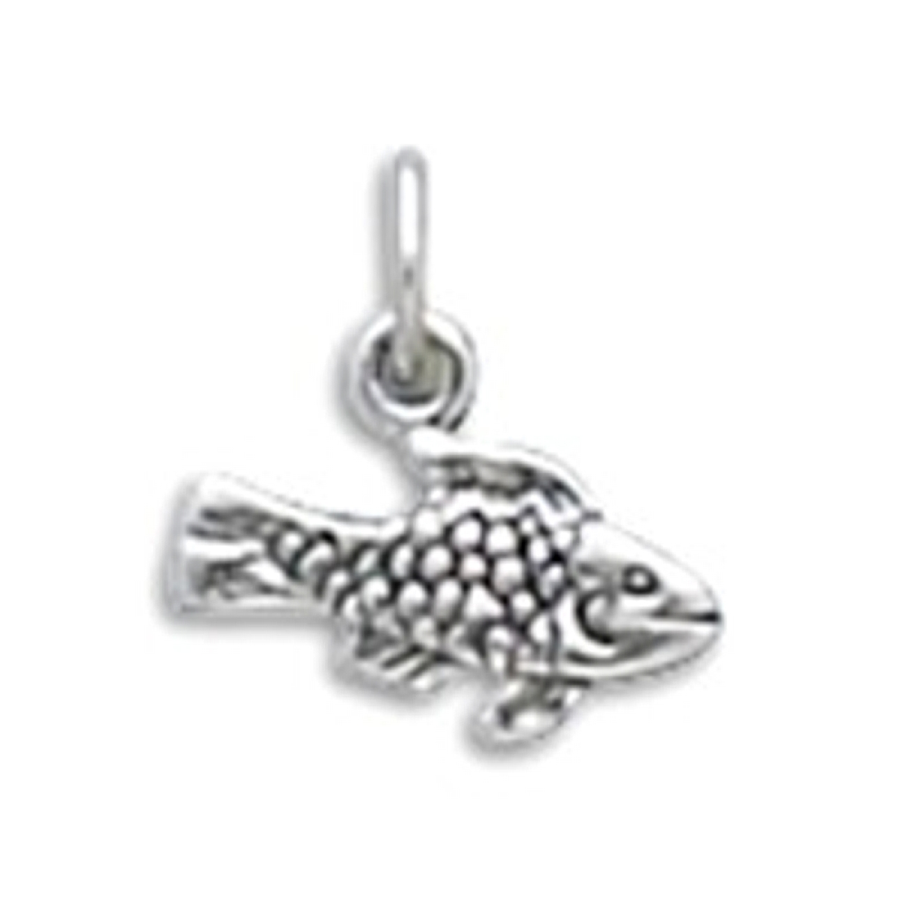 Sterling Silver Womens 1mm Box Chain 3D Fishing Motor Boat Pendant Necklace