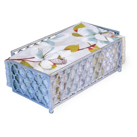 TANGIER GUEST TOWEL CADDY SILVER FOIL