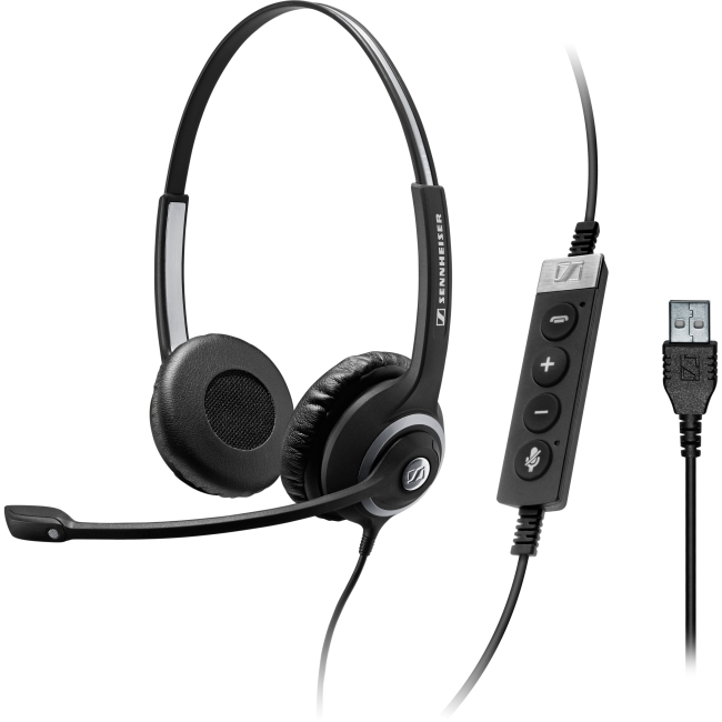 Sennheiser Circle SC 260 MS II Dual-Sided Wired Headset w/ In-Line Call Control