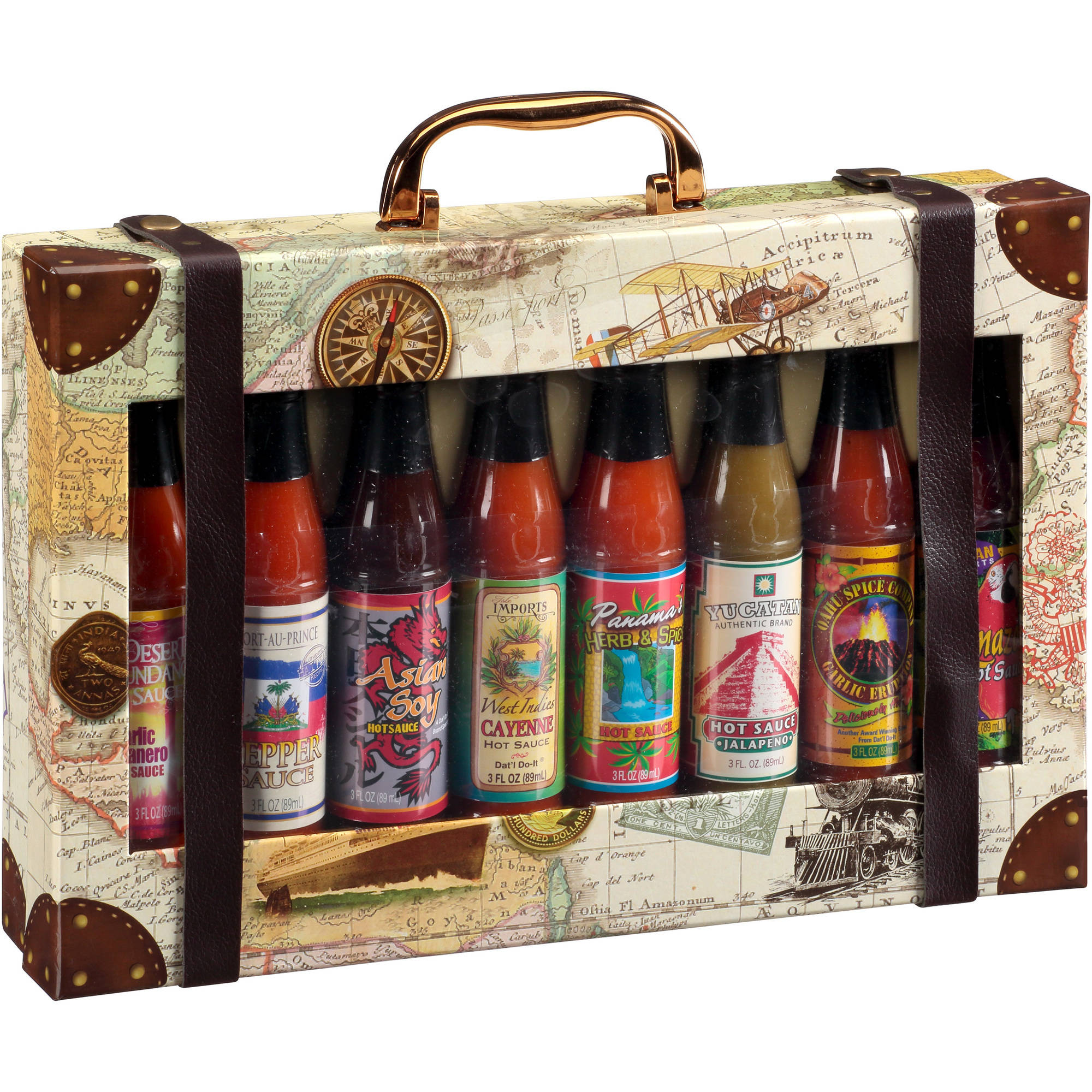 Dat'l Do It Touring America Hot Sauce Collection Holiday Gift Set, 8 piece