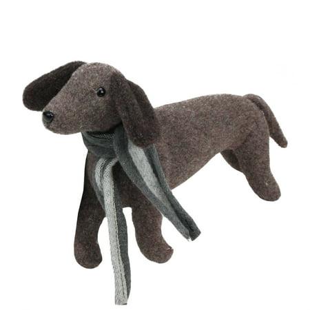 Northlight Plush Dachshund Dog with Scarf Christmas Decoration
