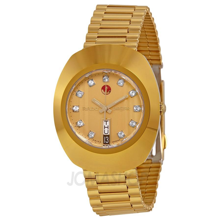 Rado Original Jubile Gold Automatic Gold Dial Gold PVD Me...
