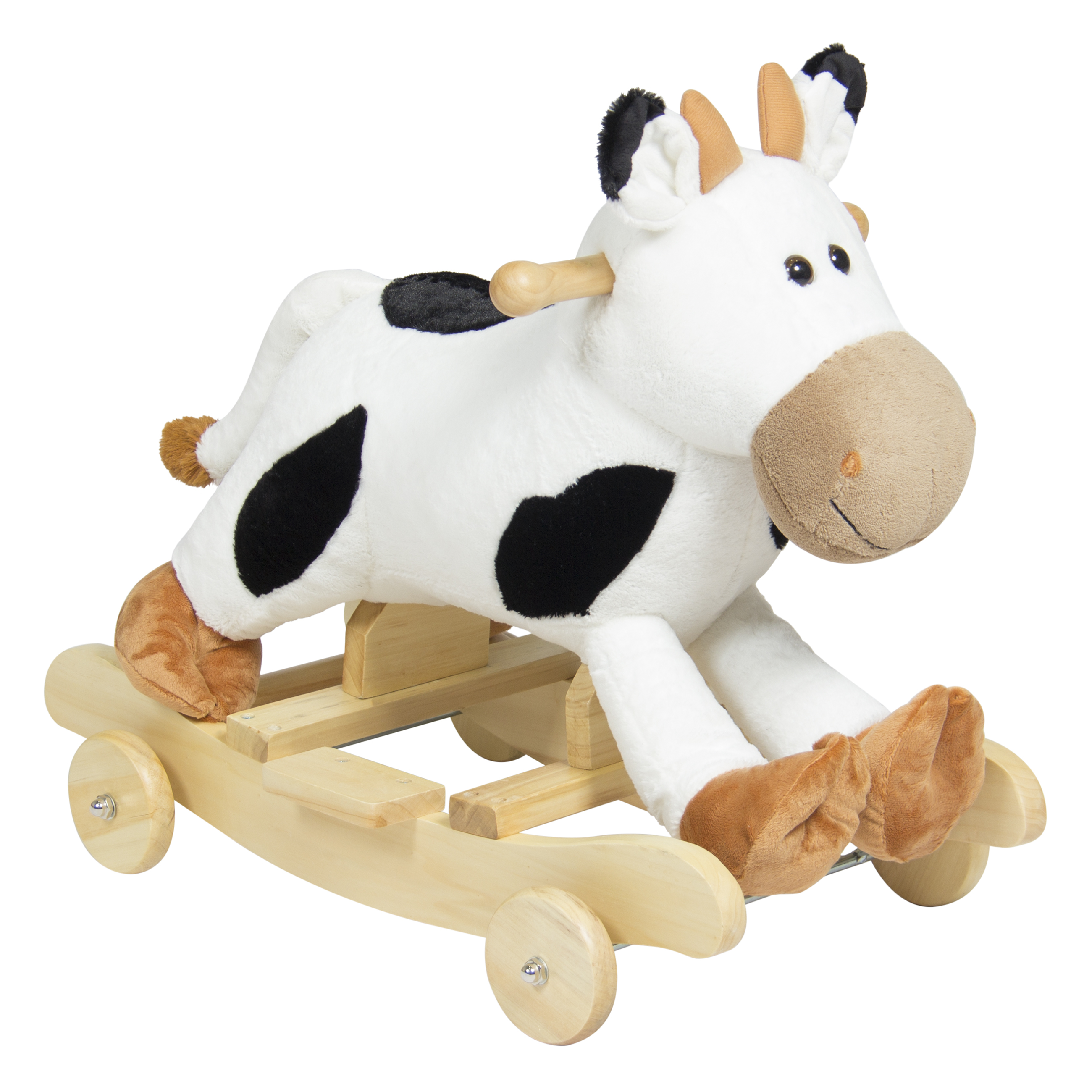 Best Choice Products Kids Ride On Plush Cow Animal Rocker...