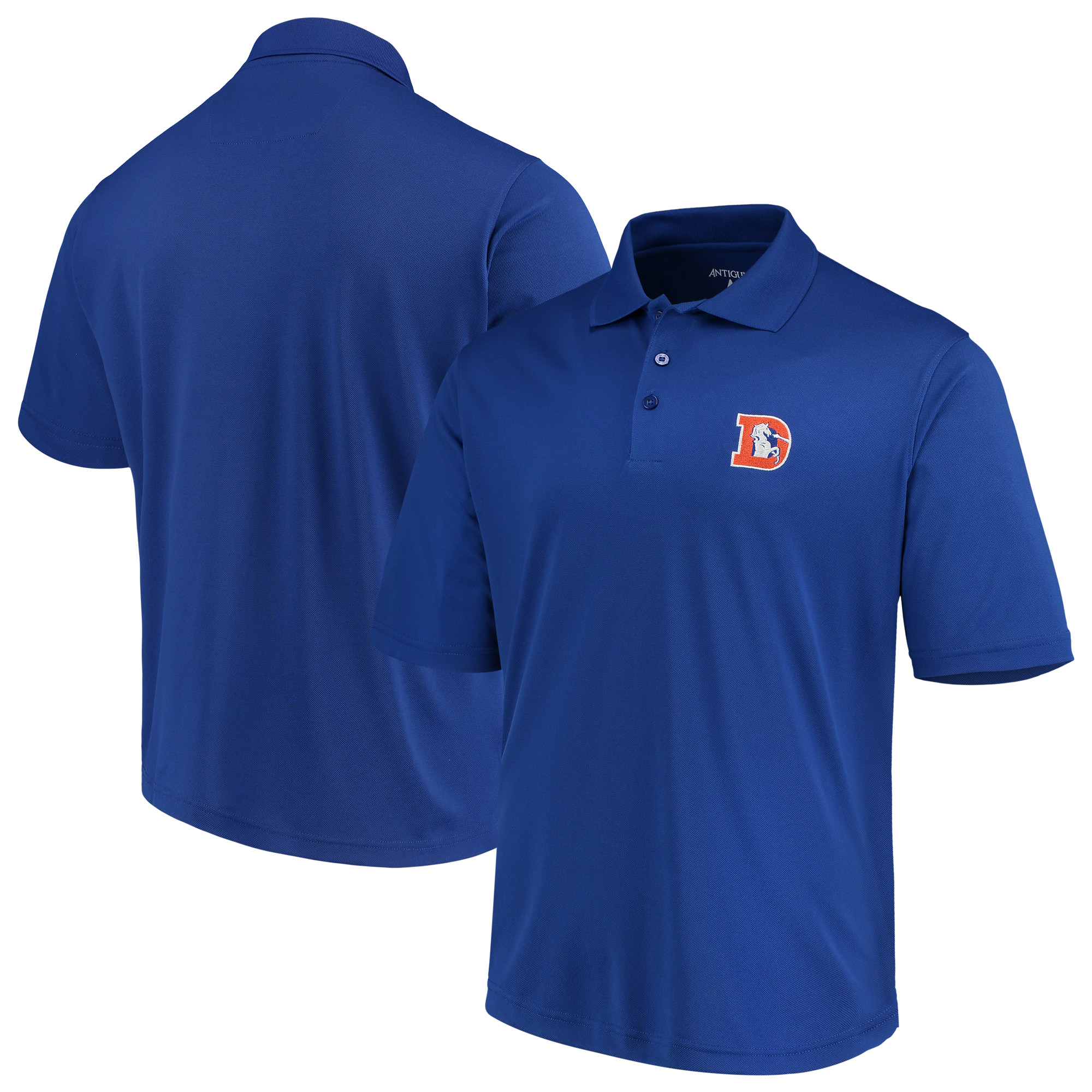 Denver Broncos Antigua Throwback Pique Polo - Royal
