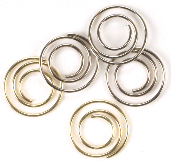 Mini Metal Spiral Clips 25/Pkg-Gold & Silver Multi-Colored
