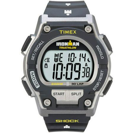 Mens Ironman Endure 30 Shock Full-Size Watch, Black Resin Strap