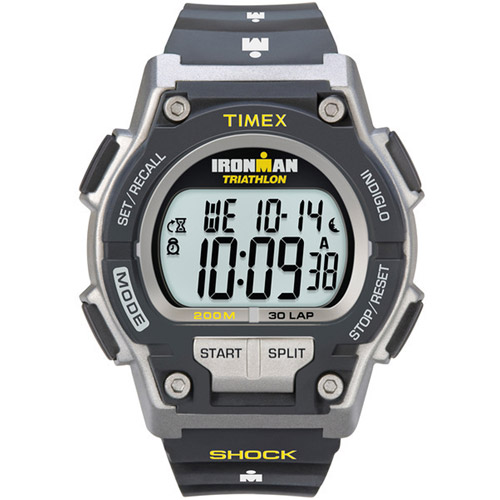 Timex Men's T5K195 Ironman 30-Lap Shock Resistant Watch - Black/Yellow
